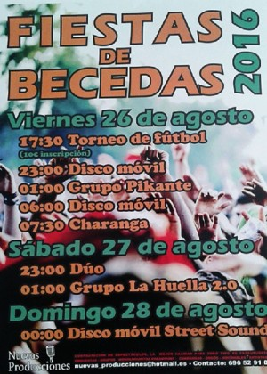 Fiestas de becedas 2016